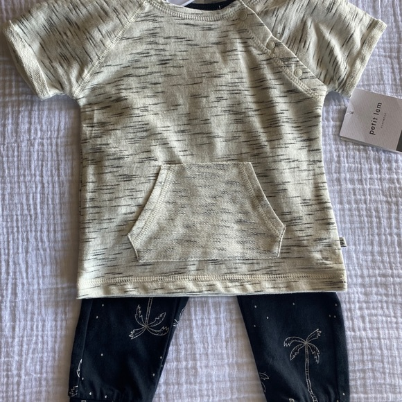Petit Lem 2pc 12 mo pants set nwt